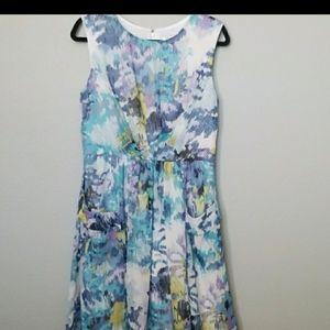 Dressbarn watercolor sleeveless dress size 12